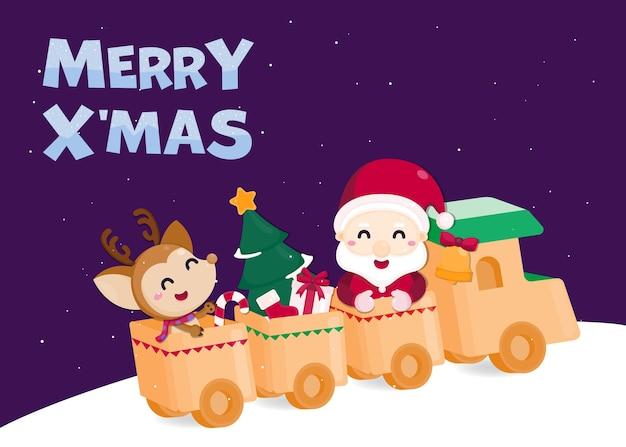 Weihnachtsfest vorlage. grußkarte für weihnachten und ein gutes neues jahr.