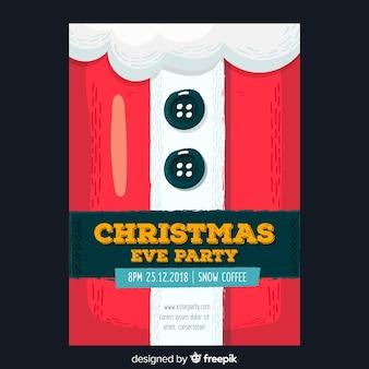 Weihnachtsfest weihnachtsmann anzug flyer vorlage