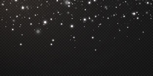 Weihnachtsfestlicher hintergrund des lichtkonfettis kleine leuchtende lichter. glitzernde textur weihnachten