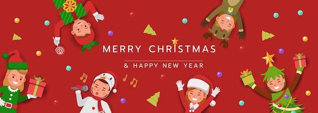 Weihnachtsfigur für karte, banner und hintergrund.