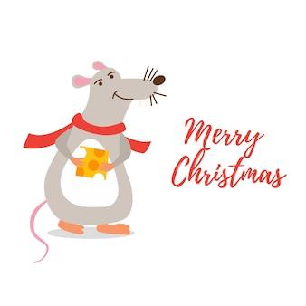 Weihnachtsfigur ratte
