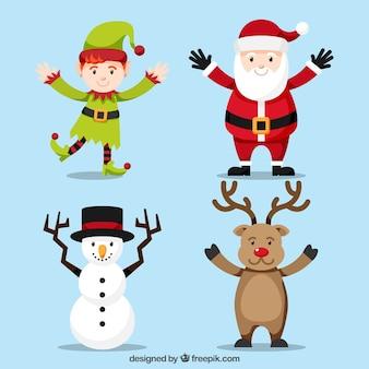 Weihnachtsfiguren mit ausgestreckten armen