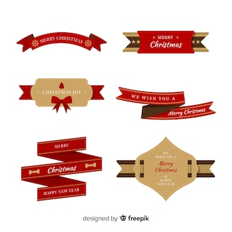 Weihnachtsflache farbbandansammlung