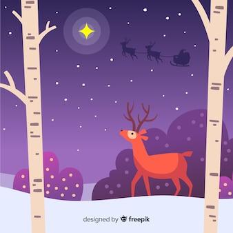 Weihnachtsflacher illustrationshintergrund