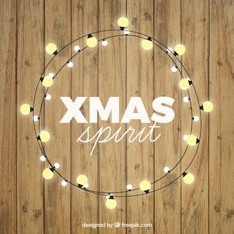 Weihnachtsgeist holz hintergrund