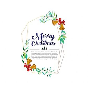 Weihnachtsgeometrische rahmendesign