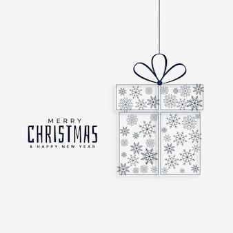 Weihnachtsgeschenk mit schneeflocken gemacht