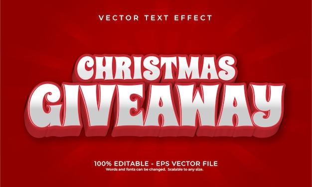 Weihnachtsgeschenk mit texteffekt