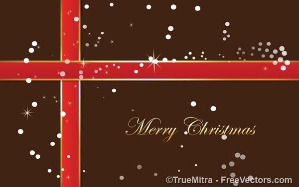 Weihnachtsgeschenk mit weißen punkten