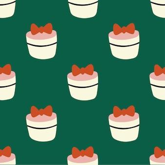 Weihnachtsgeschenkbox muster hintergrund social media post weihnachtsdekoration vektor illustration