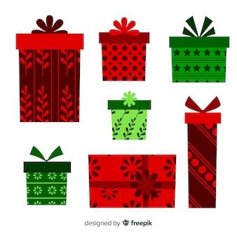Weihnachtsgeschenkboxen eingestellt