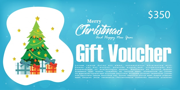 Weihnachtsgeschenkgutschein-rabatt, weihnachtshintergrund