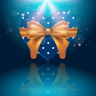 Weihnachtsgeschenkkästen mit gold