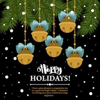 Weihnachtsgeschenkkarten mit beschriftung und handgezeichneten gestaltungselementen