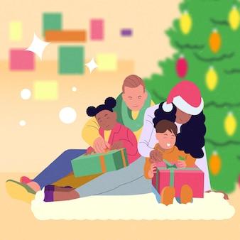 Weihnachtsgeschenkszene