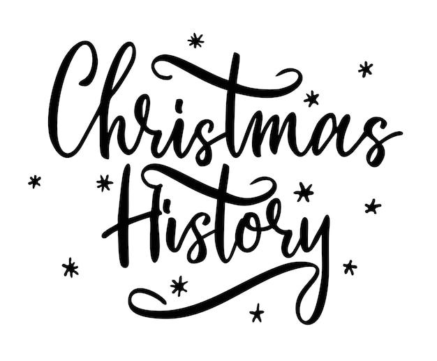 Weihnachtsgeschichte handgeschriebener schriftzug text vektorbild winterzitat für einladungsgrußkarte