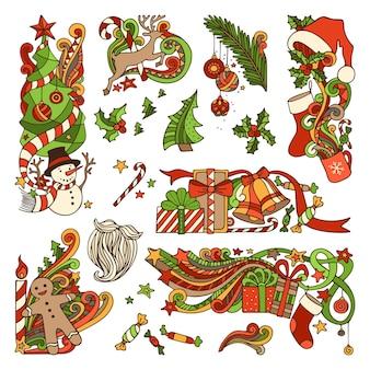 Weihnachtsgestaltungselemente