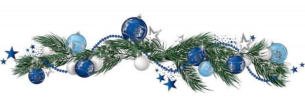 Weihnachtsgirlande isoliert