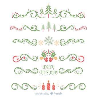 Weihnachtsgirlande ornament sammlung