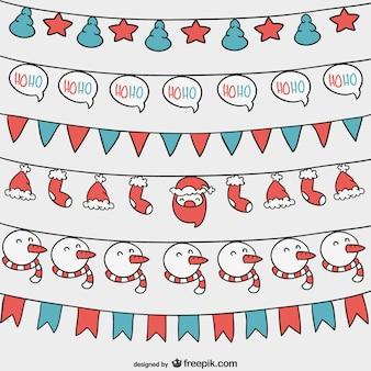 Weihnachtsgirlanden eingestellt