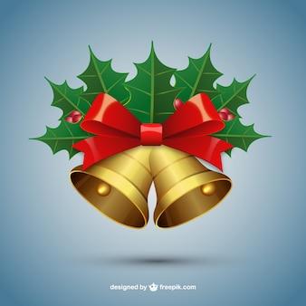 Weihnachtsglocken mit mistel