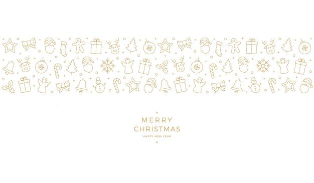 Weihnachtsgoldene ikonenelementfahne