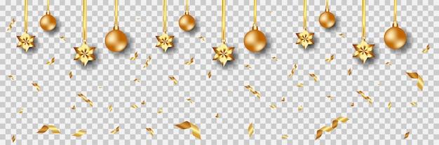 Weihnachtsgoldener verzierungshintergrund vektor