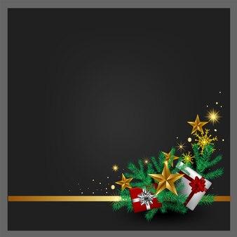 Weihnachtsgrauer hintergrund, geschenkboxen