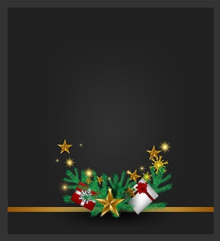 Weihnachtsgrauer hintergrund mit weihnachtsbaum