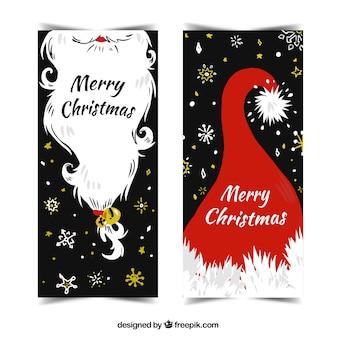 Weihnachtsgrüße mit elementen der weihnachtsmann