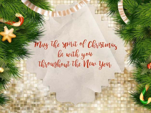 Weihnachtsgrüße.