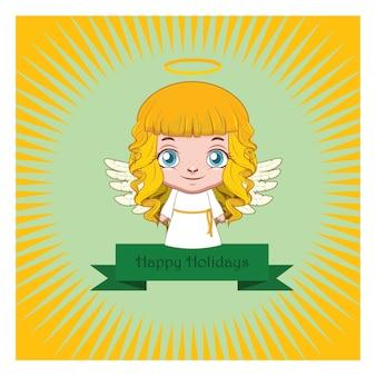 Weihnachtsgruß eines netten kleinen engels