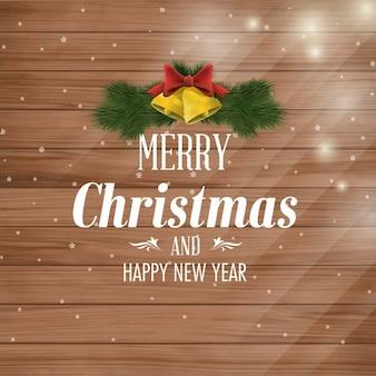Weihnachtsgruß-karten-entwurf mit verzierungen