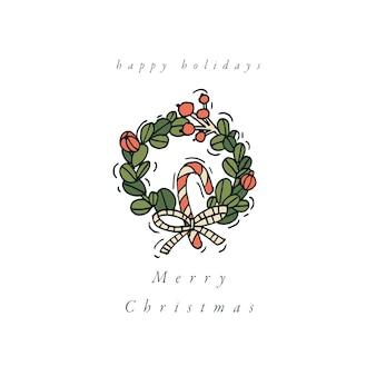 Weihnachtsgrußelemente auf weiß
