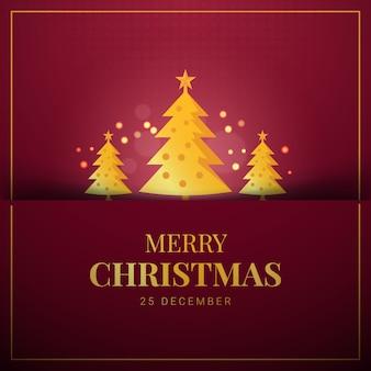 Weihnachtsgrußkarte auf einem rot