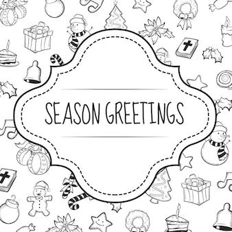 Weihnachtsgrußkarte gekritzel