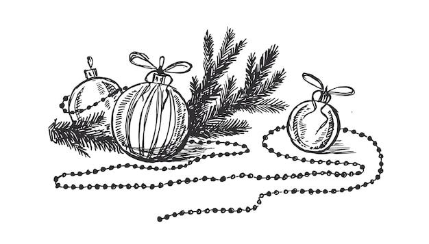 Weihnachtsgrußkarte gestaltungselement im doodle-stil