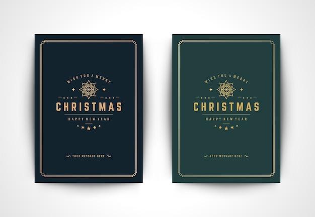 Weihnachtsgrußkarte mit schneeflockensilhouette