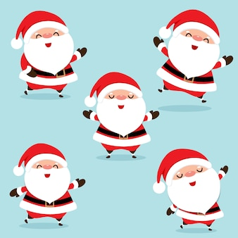 Weihnachtsgrußkarte mit weihnachten santa claus.