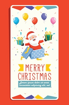 Weihnachtsgrußkarte mit zeichentrickfilm-figur