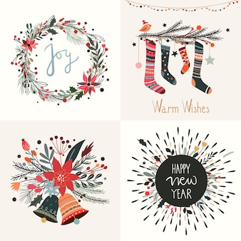 Weihnachtsgrußkarte sammlung