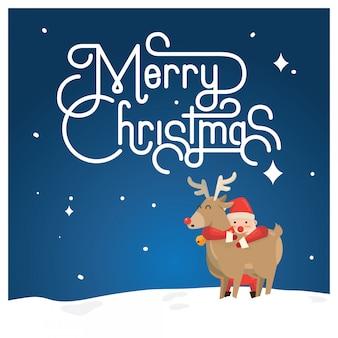 Weihnachtsgrußkarte, santa & donder