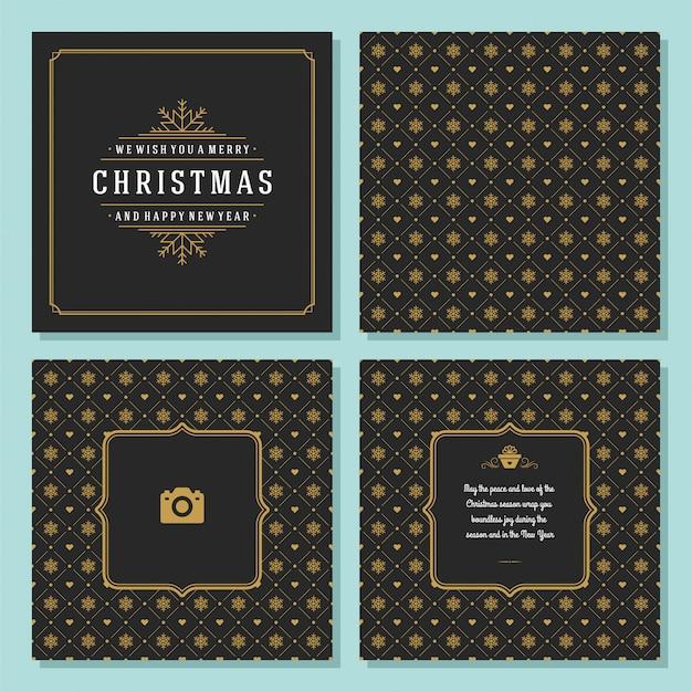 Weihnachtsgrußkarte und -muster