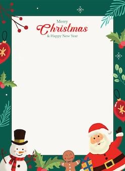 Weihnachtsgrußkarte weihnachtsmann handgezeichnet
