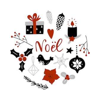 Weihnachtsgrußkarte.