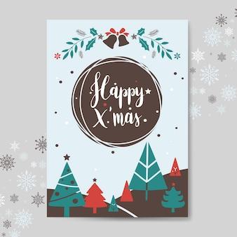Weihnachtsgrußkarten-modellvektor