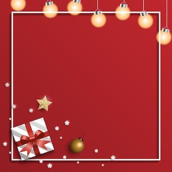 Weihnachtsgrußkartenhintergrund mit geschenkkästen