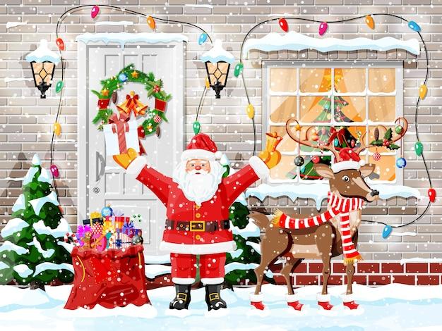 Weihnachtsgrußkartenhintergrund