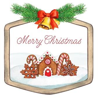 Weihnachtsgrußrahmen