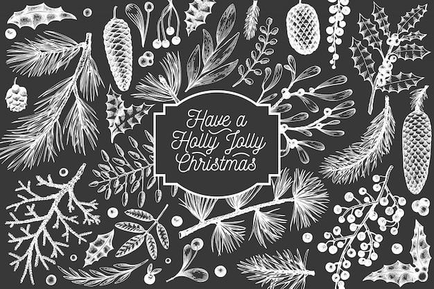 Weihnachtshand gezeichnet